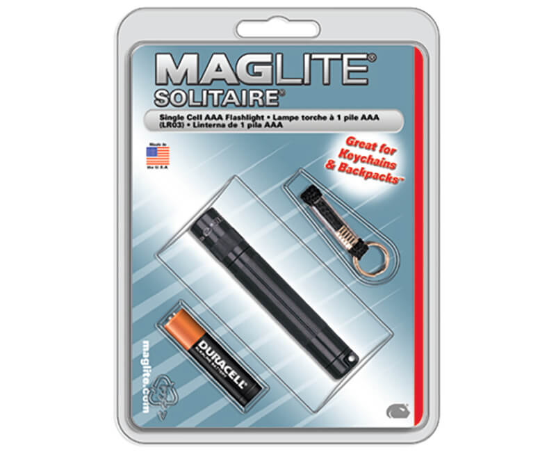 Mag-Lite Solitaire AAA Flashlight - Black Carded