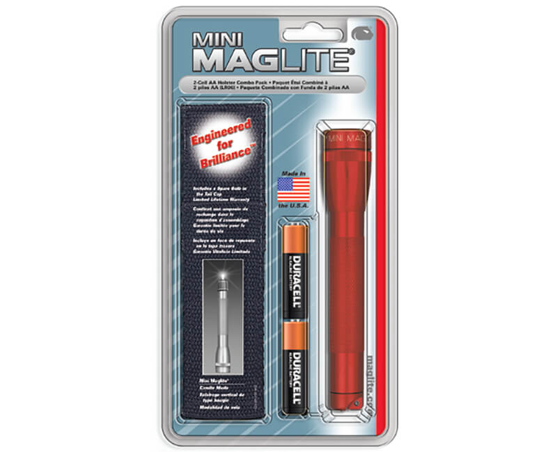 Mini Mag-Lite AA Flashlight - Red Carded