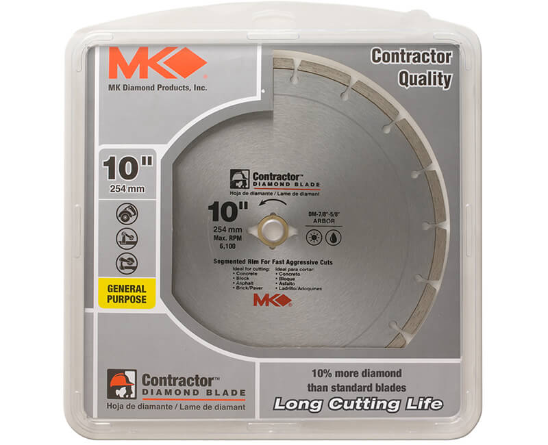 "10"" Segmented Diamond Blade - Carded"