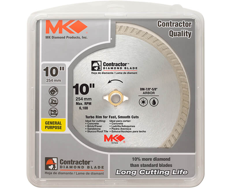 "10"" Turbo Diamond Blade - Carded"