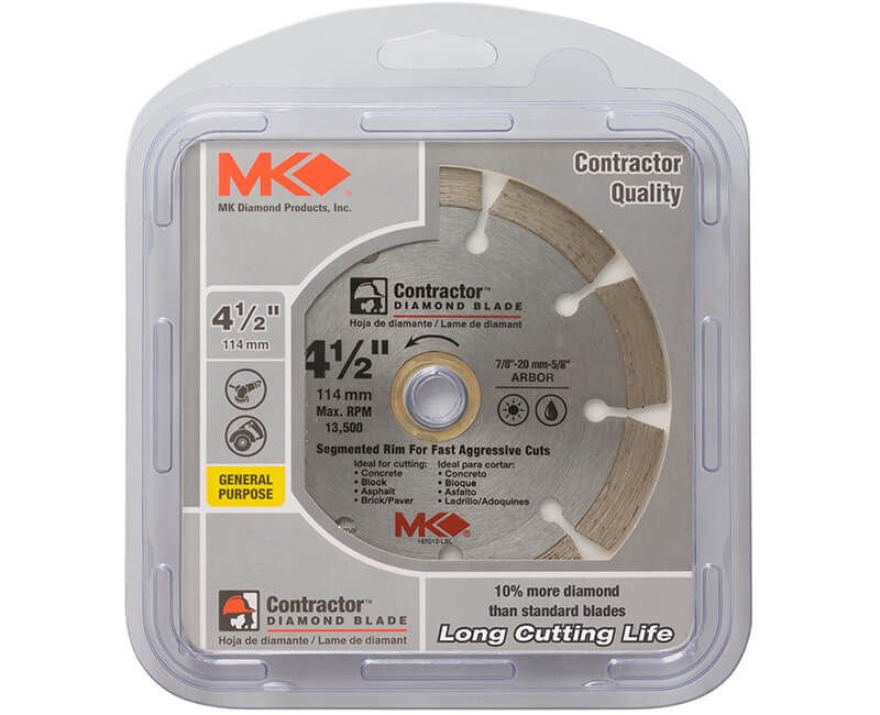"4-1/2"" Segmented Diamond Blade - Carded"