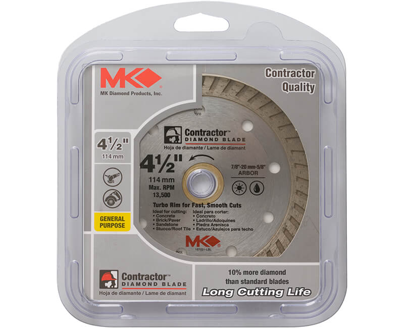 "4-1/2"" Turbo Diamond Blade - Carded"