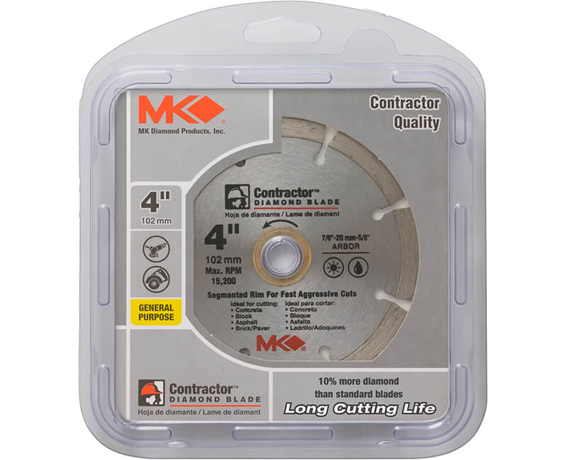 "4"" Segmented Diamond Blade - Carded"