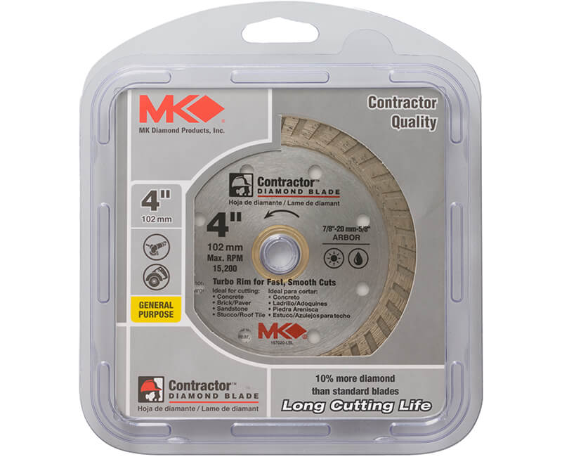 "4"" Turbo Diamond Blade - Carded"