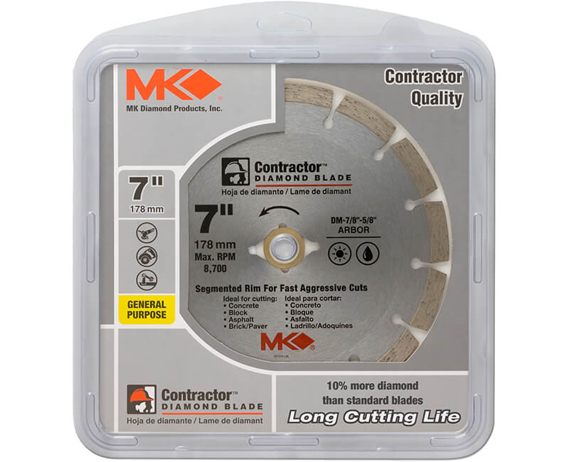 "7"" Segmented Diamond Blade - Carded"