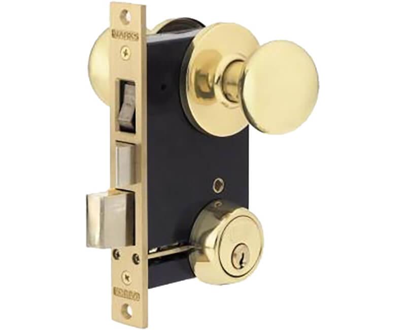 Iron Gate Double Cylinder Rose Mortise Lockset - Left Handed