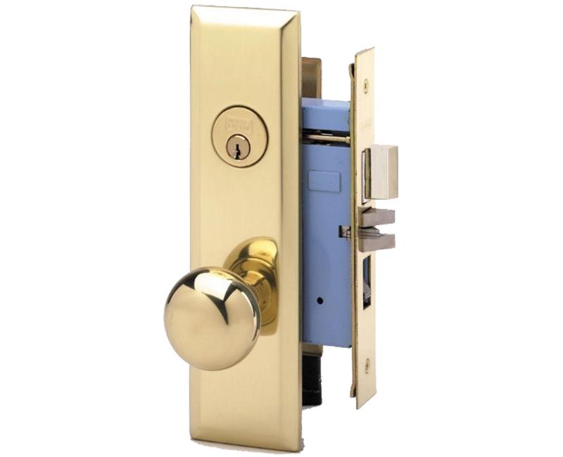Standard Knob & Plate Lockset - Left Handed