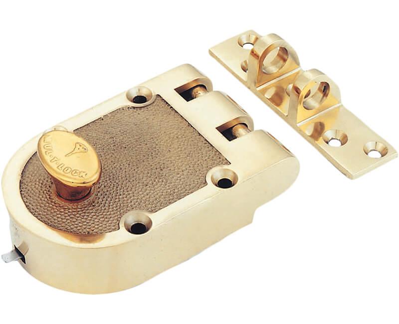 Jimmyproof Deadlock - Polished Brass