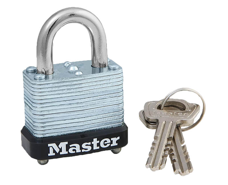 "1-1/8"" Laminated Steel Padlocks - Carded"