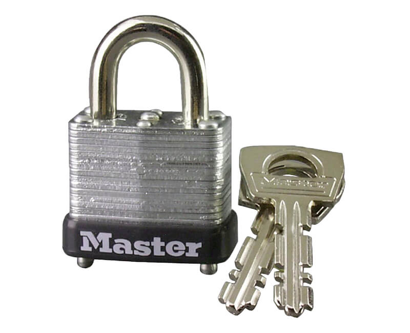 "1"" Laminated Steel Padlocks - Carded"