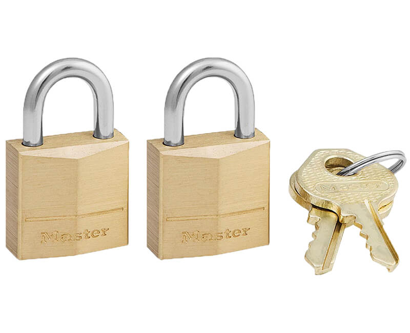 "3/4"" Brass Padlock - Twin Pack Carded"