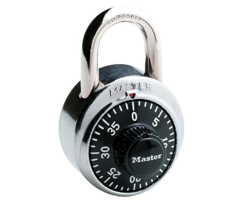 "1-7/8"" Stainless Steel Combination Lock - Black Dials Carded"