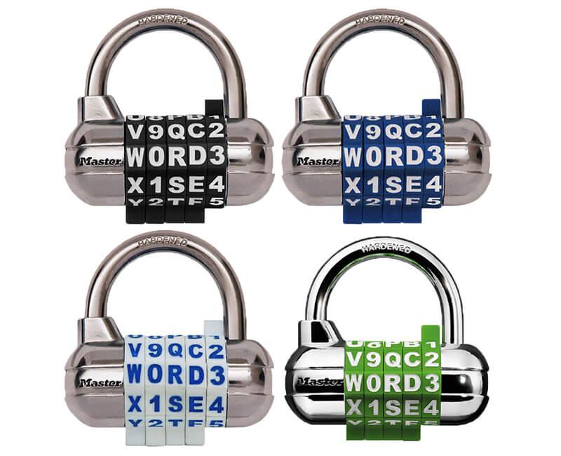 "2-1/2"" Set Seeel Combination Lock - Letters & Numbers"