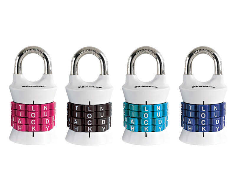 "1-1/2"" Set Your Own Combination Lock - Assorted Color"
