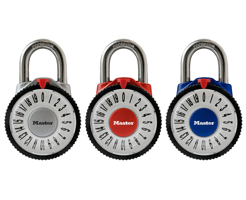 Assorted Colors Combination Lock W/ Magnified Lens