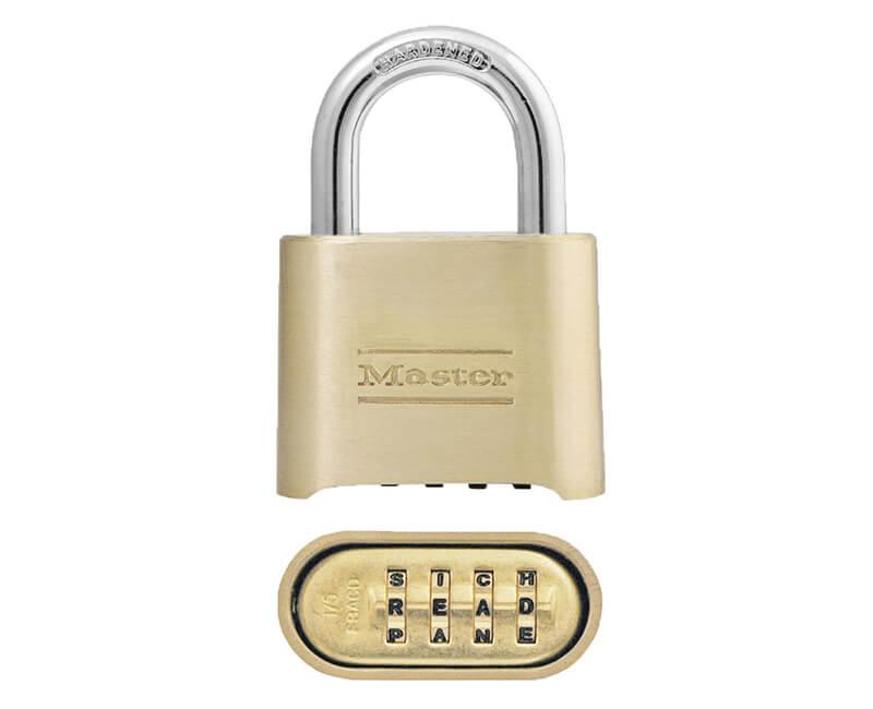 "2"" Resettable Combination Lock - Brass"