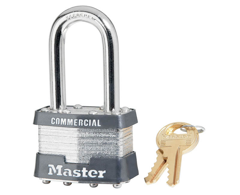 "1-3/4"" Wide Long Shackle Laminated Padlock - Boxed KA"