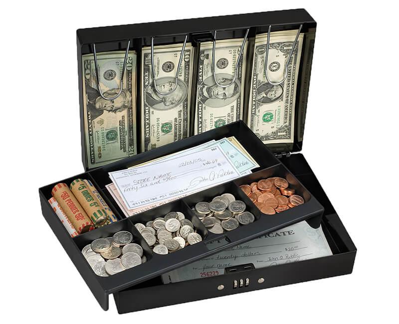 6 Compartment Combination Cash Box