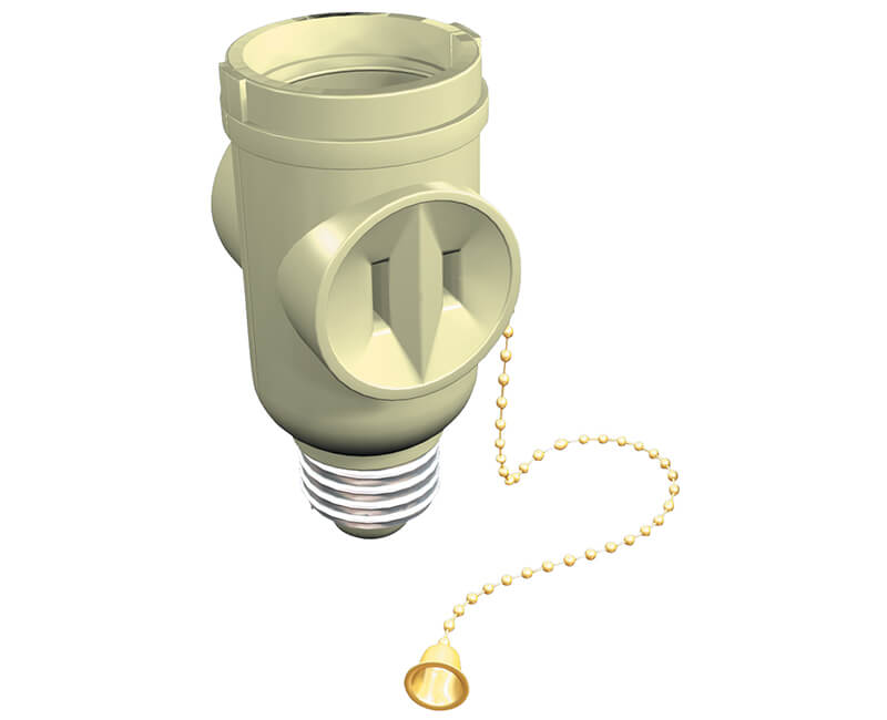 Pull Chain Socket Adapter - Brown