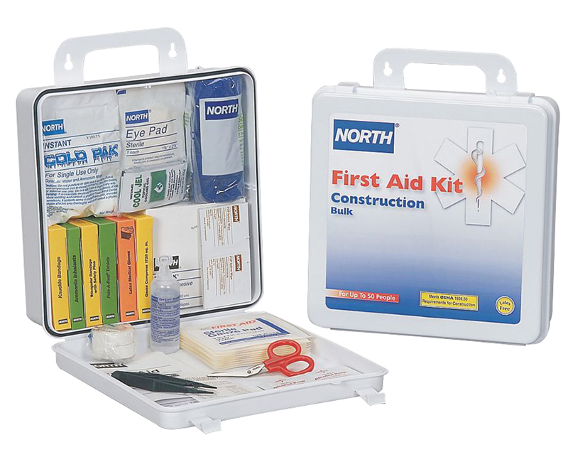 50 Man Construction First Aid Kit Plastic Case