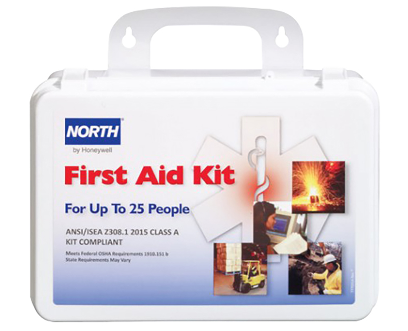 ANSI 25 Man Construction First Aid Kit Plastic Case
