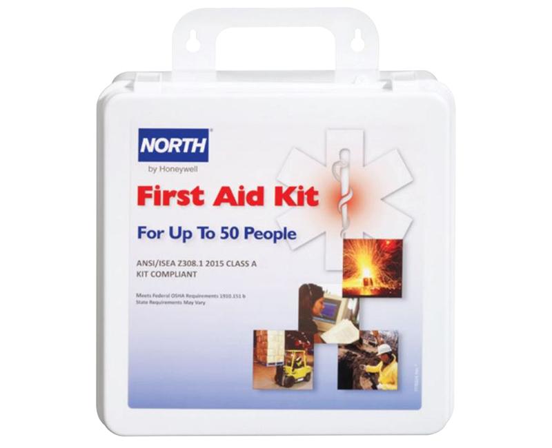ANSI 50 Man Construction First Aid Kit Plastic Case