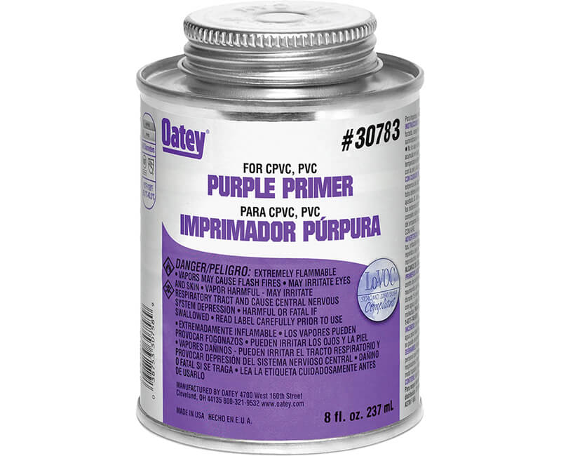8 Oz. PVC Primer Cleaner - Purple