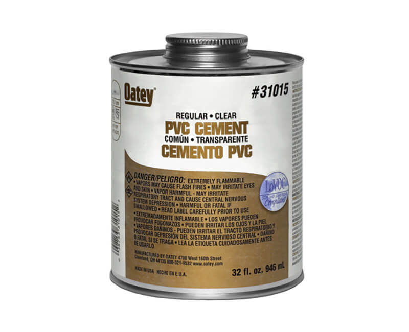 4 Oz. Clear PVC Cement