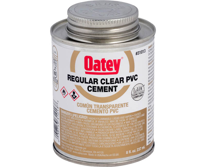 8 Oz. Clear PVC Cement