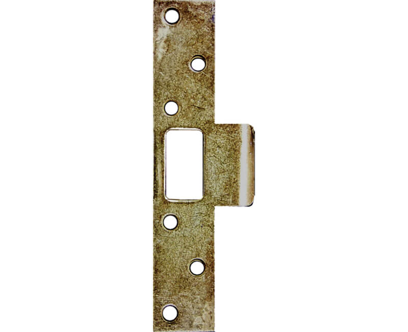 Super Strikes Curved Lip For Latch Type Locks - Brass Plated