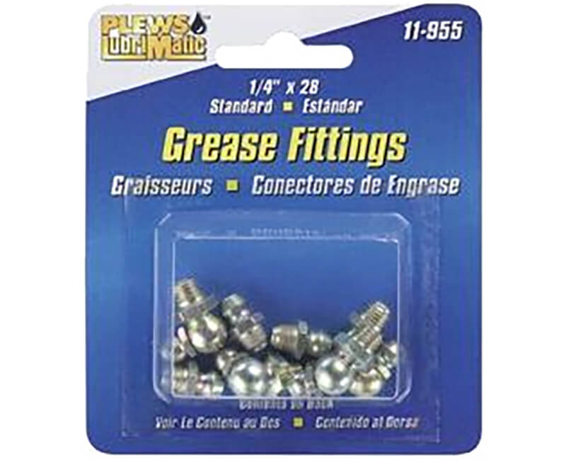 8 Piece Standard Grease Fitting Assortment