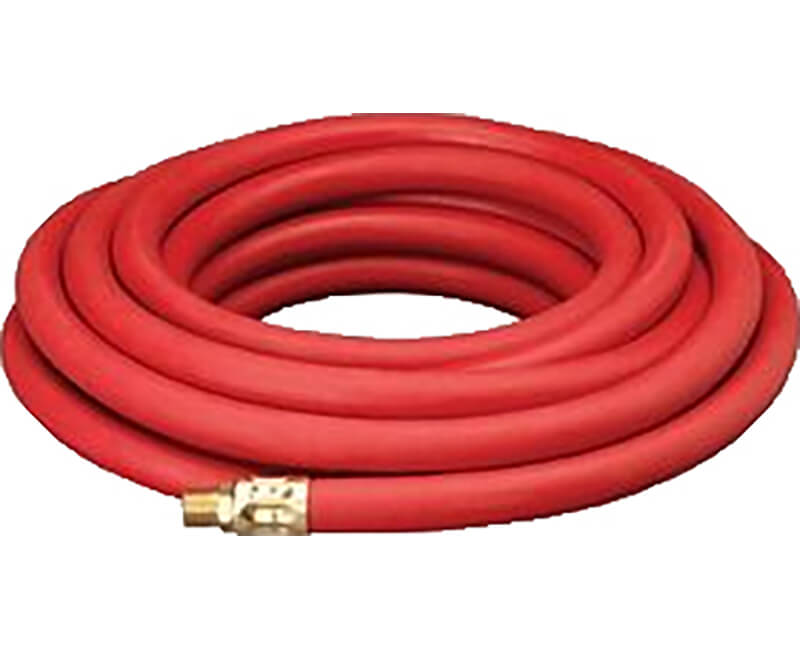 "3/8"" X 25' Rubber Air Hose With 1/4"" Fitting"