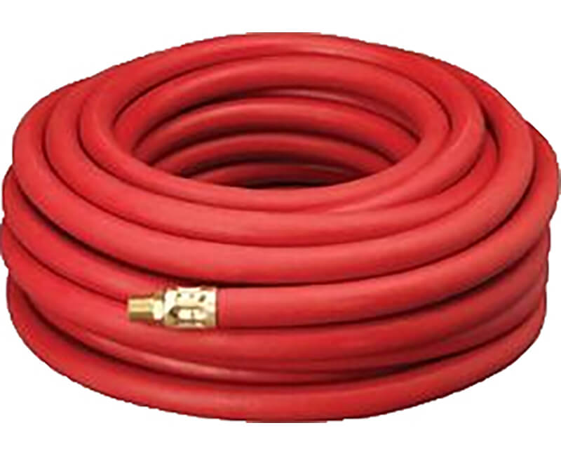 "3/8"" X 50' Rubber Air Hose With 1/4"" Fitting"