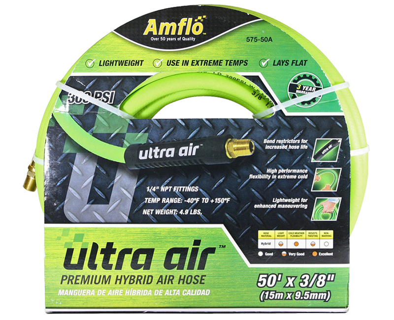 "3/8"" x 50' Hybrid Ultra Air Hose"