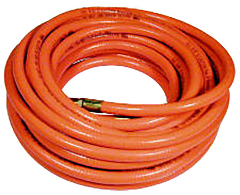 "3/8"" X 25' Orange Pvc Air Hose"