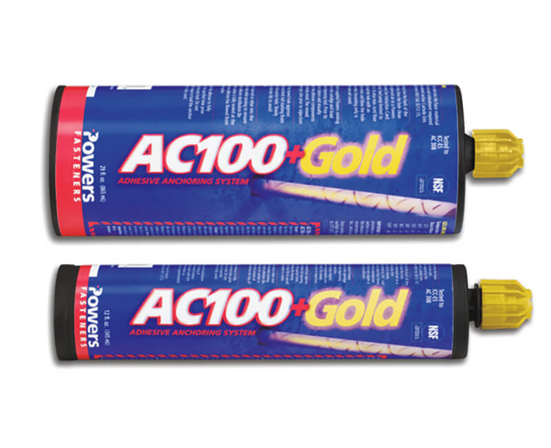 AC100+ Gold Adhesive Anchoring System 10oz Cartridge