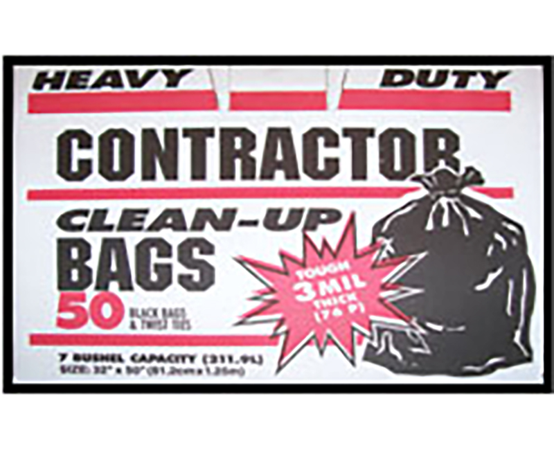 3 Mil Contractor Bags 42 Gal 32 x 50 - 50 Ct. Boxed