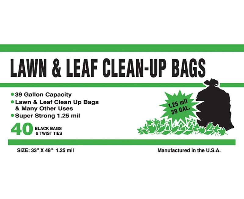 1.25 Mil Lawn & Leaf 39 Gal 33 x 48 - 40 Ct. Boxed