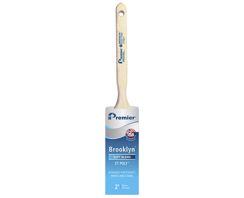 "2"" Brooklyn Flat Sash Poly Brush"