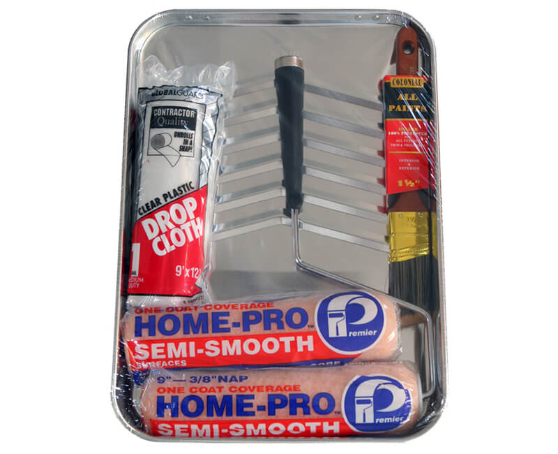 6 Pc. Roller Kit With Heavy Duty Metal tray