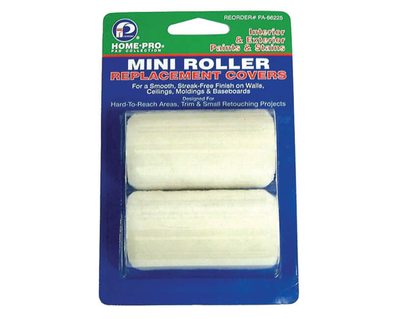 Mini Roller Replacement Covers - 2 Pack