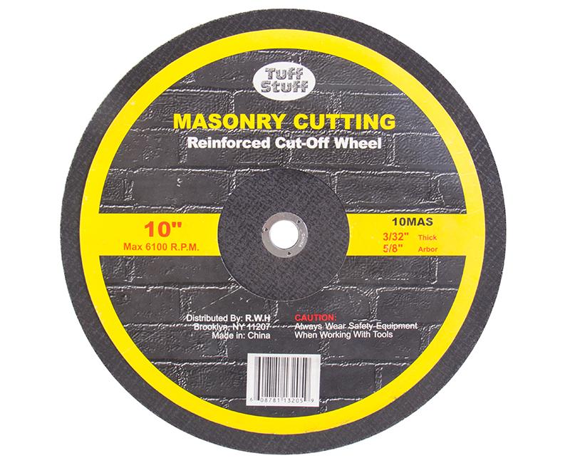 "10"" X 3/32"" X 5/8"" Arbor Masonry Cutting Blade"