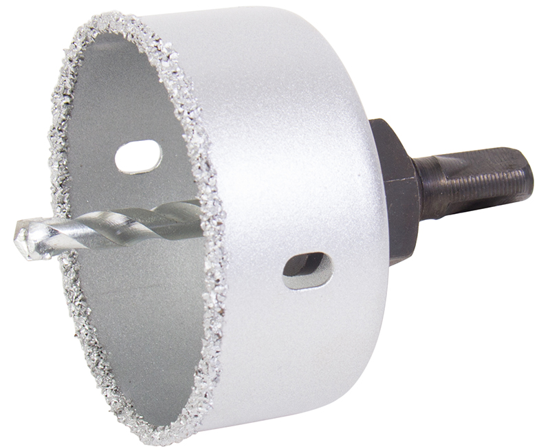 "2-1/2"" Carbide Grit Holesaw Kit With Mandrel"