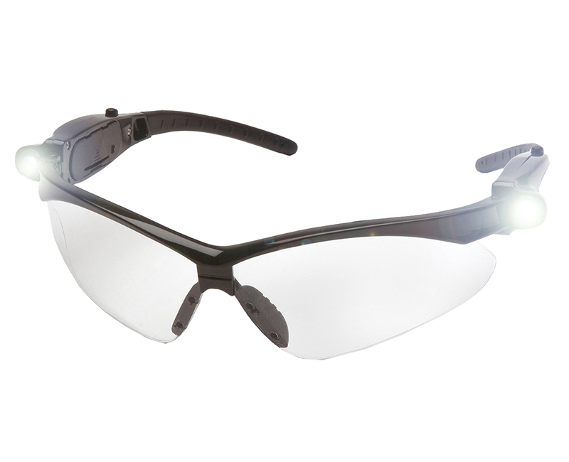 BLACK FRAME CLEAR LENS W/ LED TEMPLES