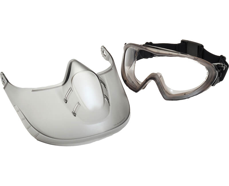 Anti-Fog Lense Goggle With Face Shield - Clear
