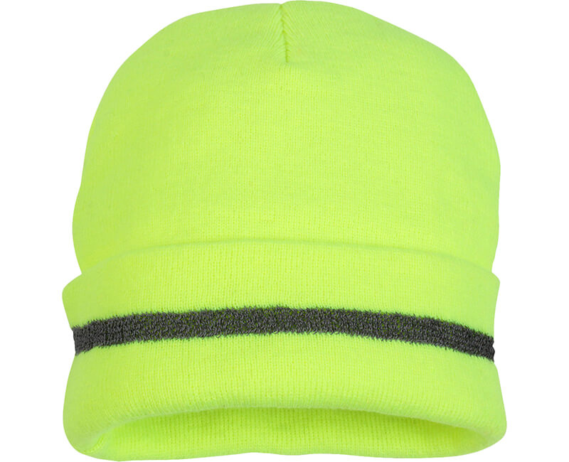 Hi-Vis Lime Knitted Cap
