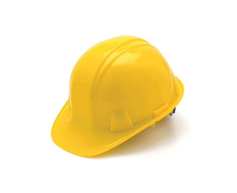 Yellow Hard Hat - 4 Point Pin Lock Suspension