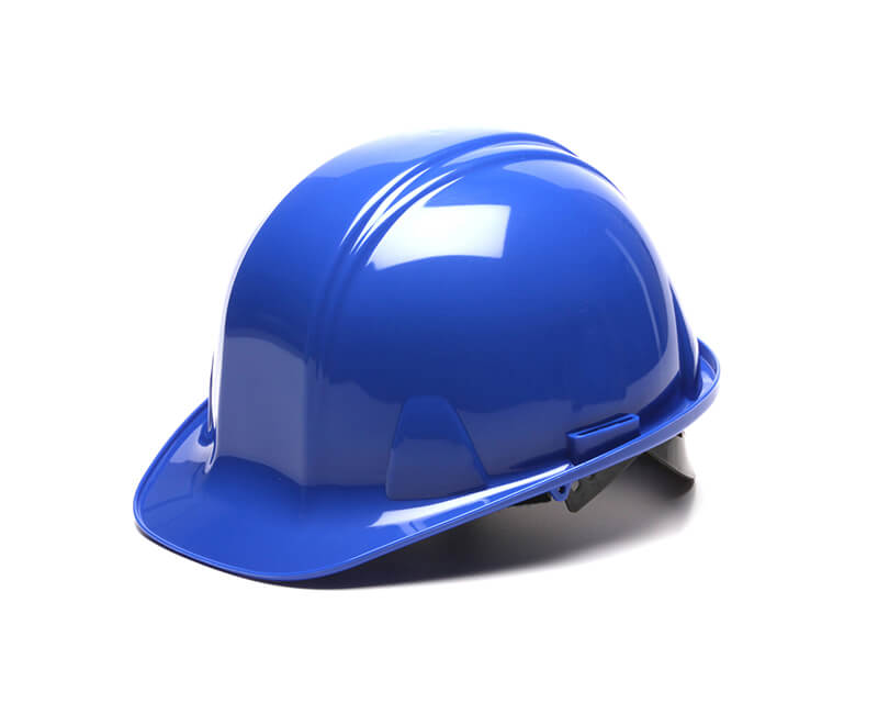 Blue Hard Hat - 4 Point Pin Lock Suspension