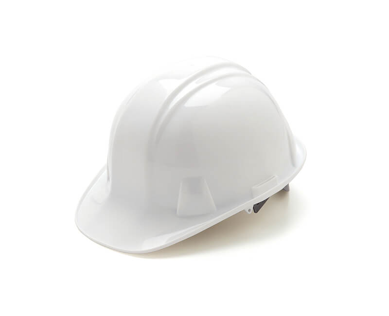 White Hard Hat - 4 Point Pin Lock Suspension