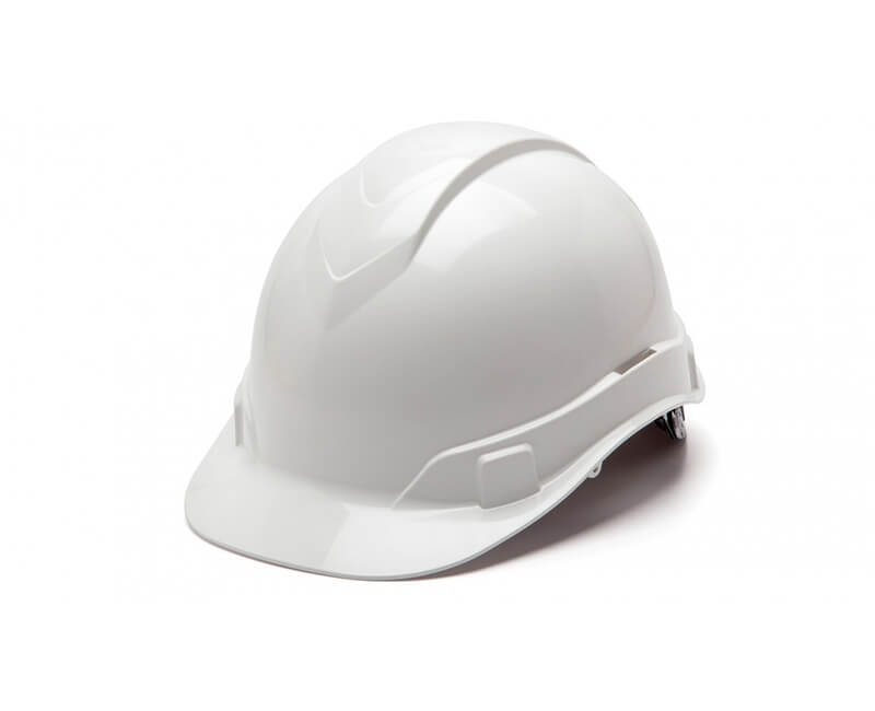 White Hard Hat - 6 Point Ratchet Suspension